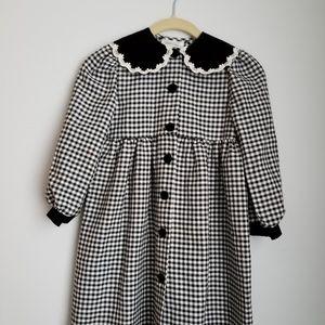 Bonnie Jean new York checkered dress visage